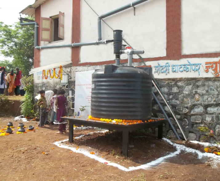 A Storage Plus Groundwater Recharge RWH System At Adarsh Vidyalaya, Murbad, Maharastra. Project Sponsored By NDTV-Coca Cola India